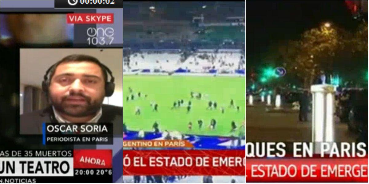 La televisión cambió su agenda por los atentados en París