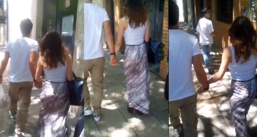 De la mano y enamorados, Lali Espósito y Mariano Martínez pasean juntos