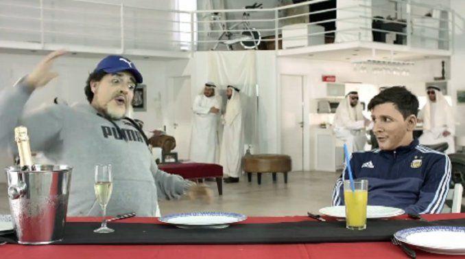La divertida imitación de Martín Bossi: Diego Maradona le enseñó a Lionel Messi a cantar el himno