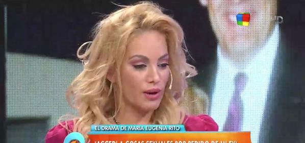 La difícil confesión de María Eugenia Ritó: Hice cosas sexuales extremas por mi ex