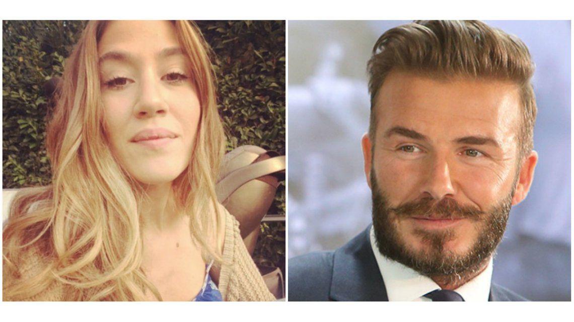 Jimena Barón piropeó a David Beckham en Instagram