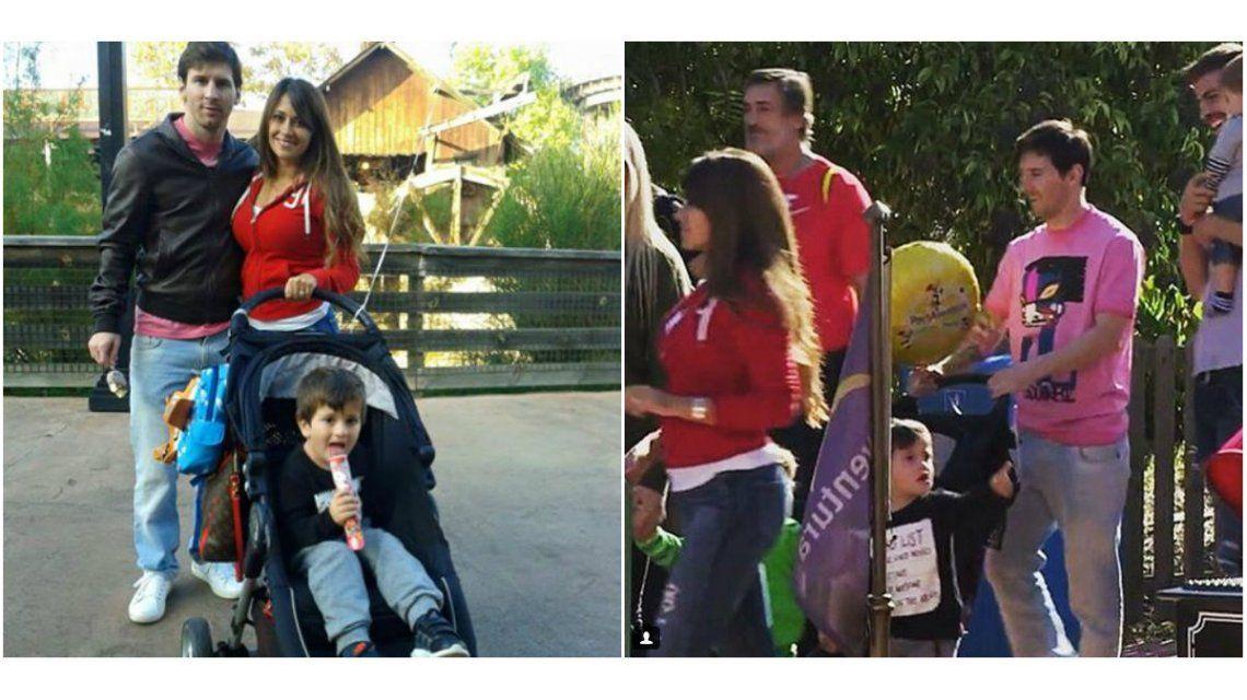 Leo Messi, en el parque de diversiones con su familia y compañeros del Barcelona: Gran día
