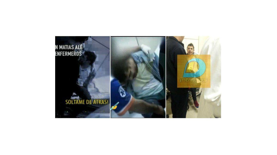 El desgarrador video de Matías Alé, internado en medio del brote psicótico