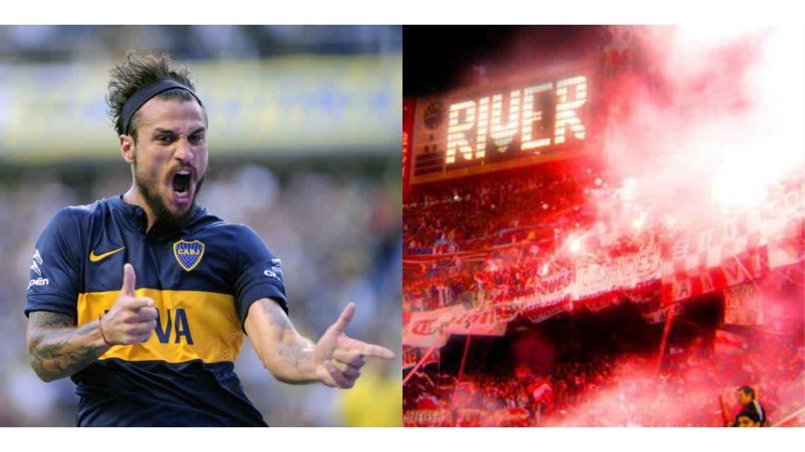 La provocación de Daniel Osvaldo a los hinchas de River en medio del partido de Boca