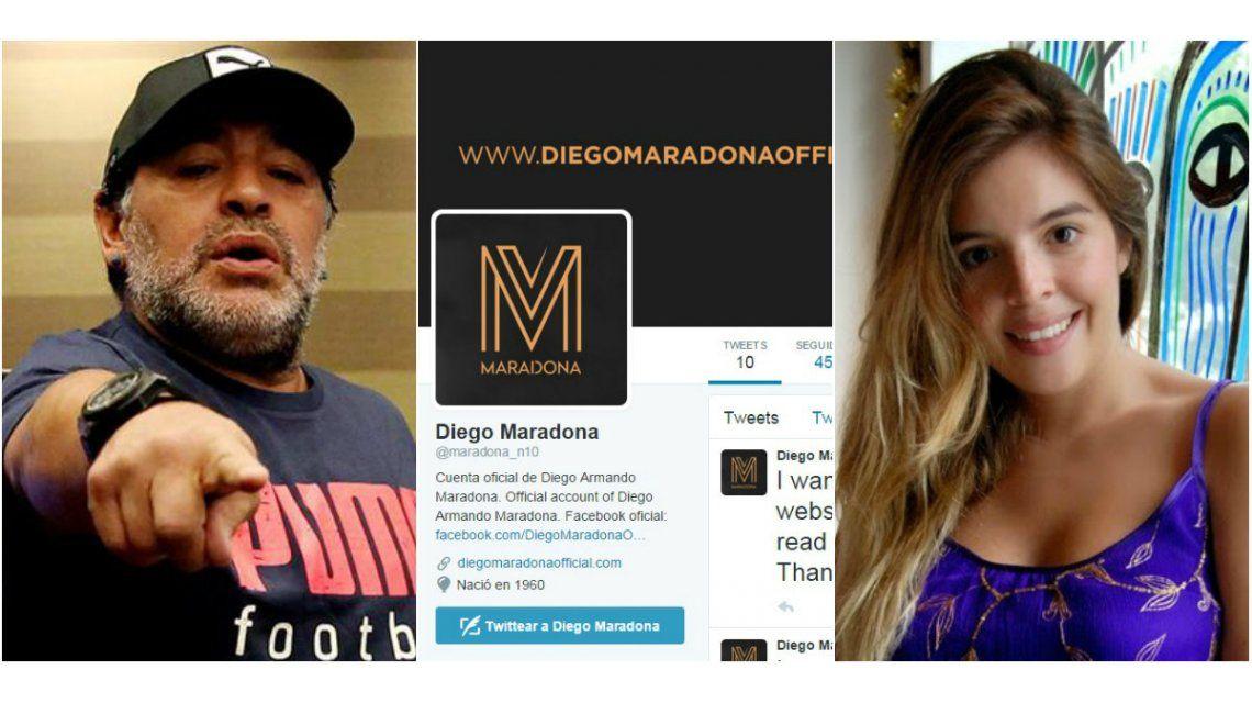 ¡Nos engañó a todos! Dalma Maradona desmiente que Diego tenga una cuenta oficial de Twitter