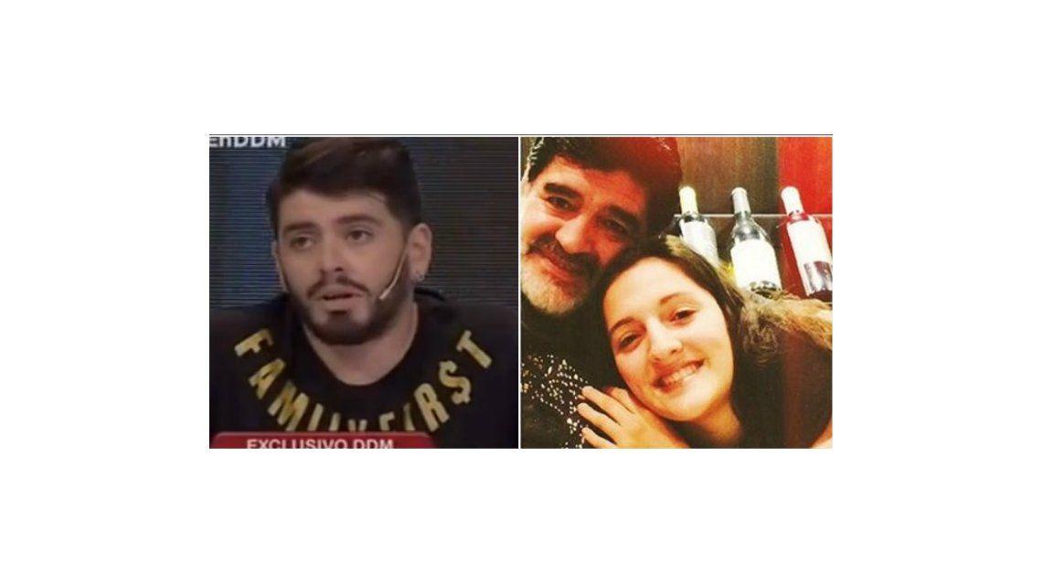 La pelea entre Diego Jr y Jana Maradona: él la destrozó en televisión y ella respondió en Twitter