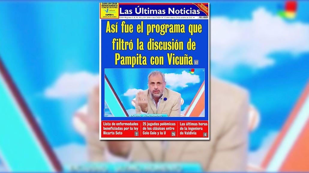 Así amaneció Chile: la tapa de unos principales diarios fue sobre la escandalosa separación de Pampita y Vicuña