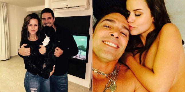 La última foto de Matías Alé y su mujer, desnudos en la cama
