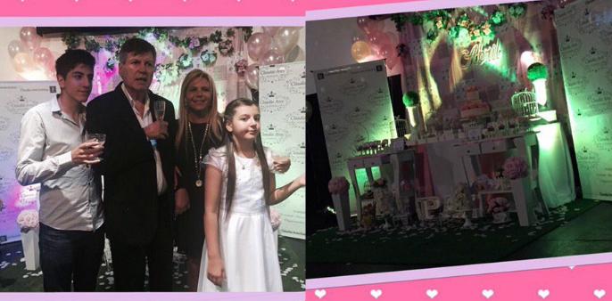 El álbum de fotos de la emotiva comunión de la hija de Carlín Calvo