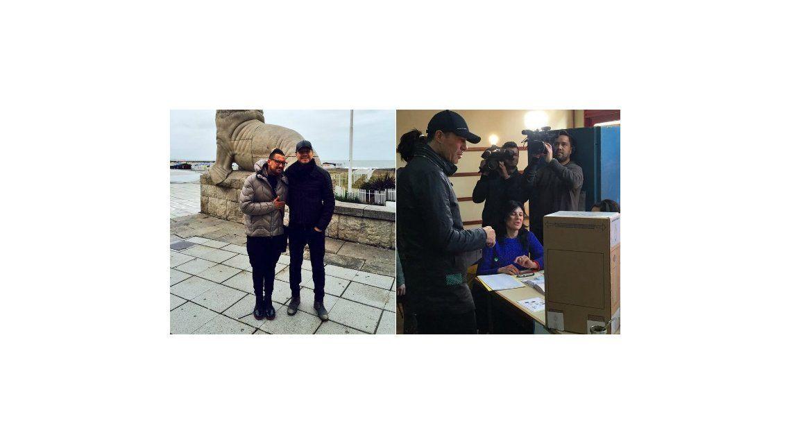 Marcelo Tinelli volvió de Mar del Plata y fue a votar: Feliz día de la democracia