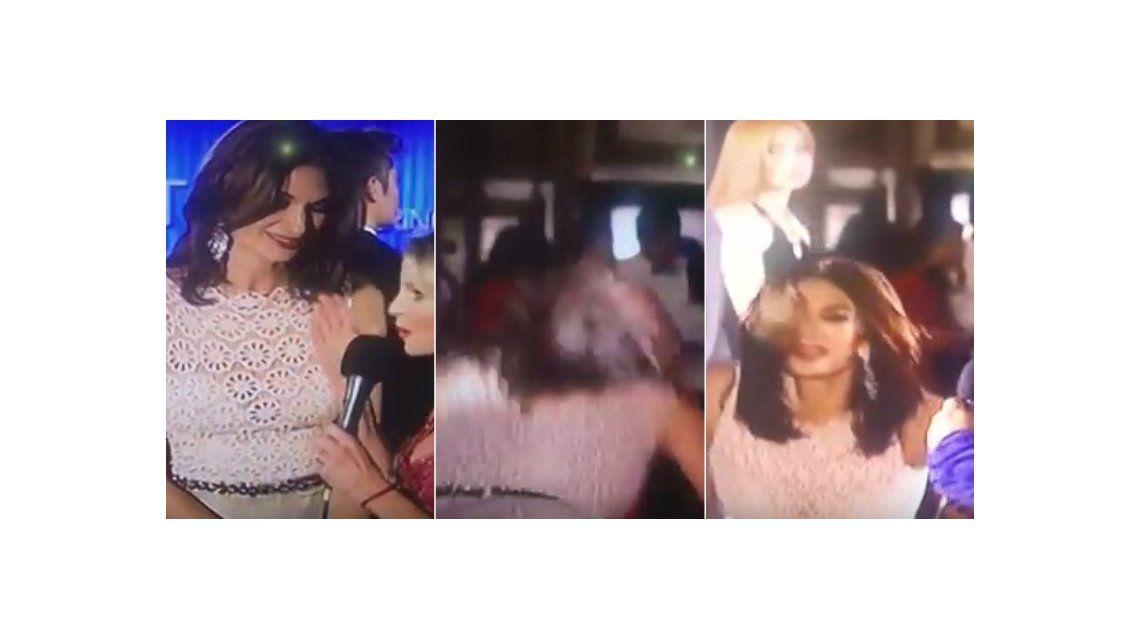 La dolorosa caída de Mariana Arias en la alfombra roja de Miss Universo argentina 2015