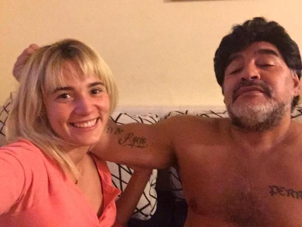 En medio de rumores de crisis con Maradona, Rocío Oliva volvió a Dubai