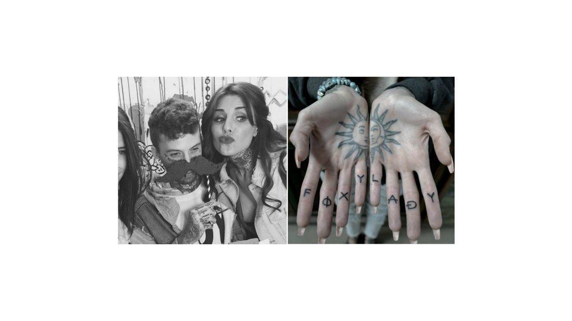 Cande Tinelli en Twitter: romántico mensaje a su amigovio y filosófica explicación sobre los tatuajes en su cuerpo