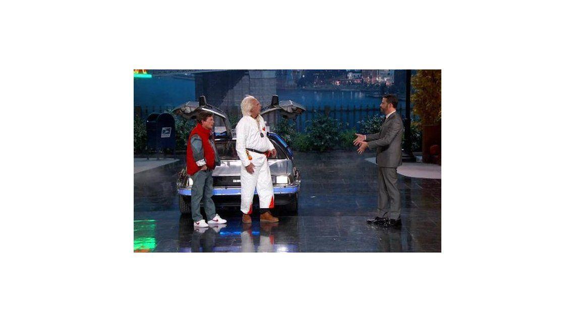 Volver al futuro: Marty McFly y Doc aterrizaron en el show de Jimmy Kimmel