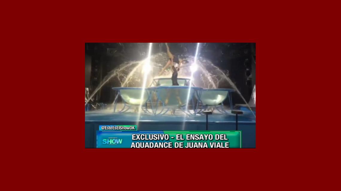 El video del Aquadance de Juana Viale: mirá los jugados trucos que se animaba a hacer