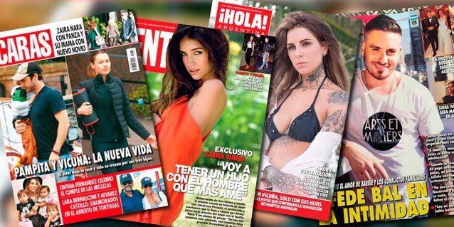 Tapas de revistas: Zaira Nara habla de su embarazo y Candelaria Tinelli no se calla nada