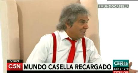 Beto Casella debutó con Mundo Casella Recargado, por C5N