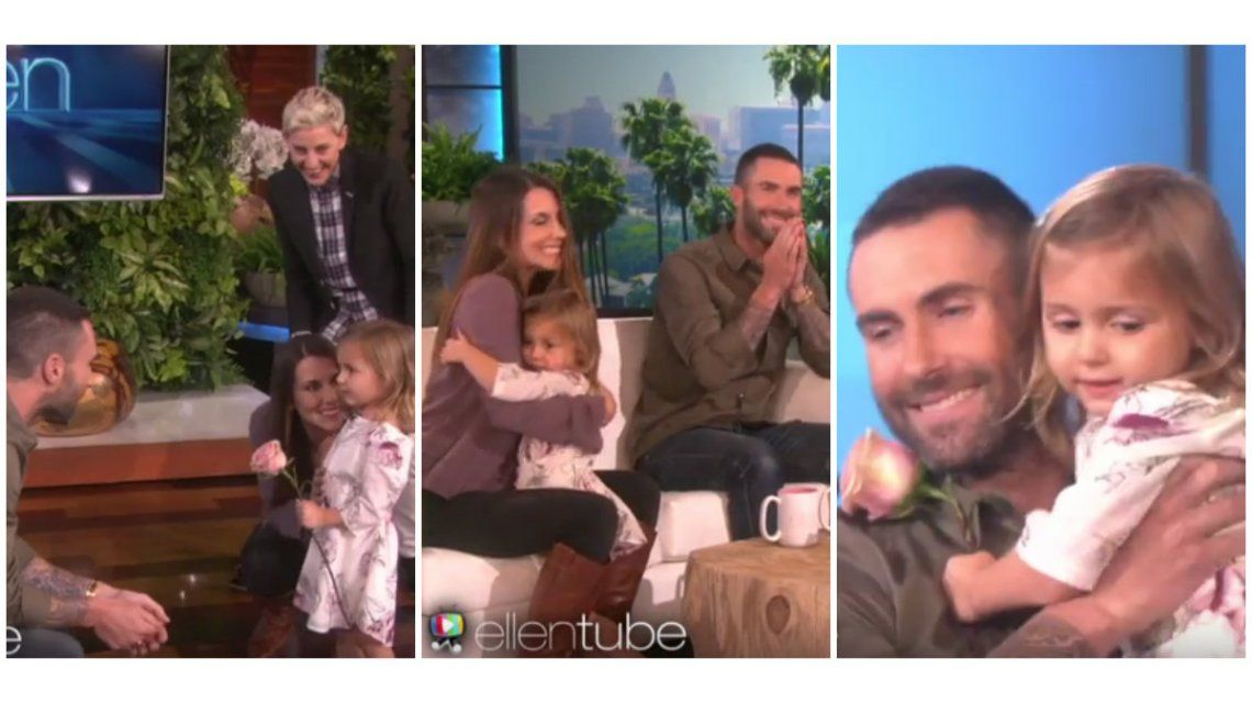 Una nena de tres años cumplió su sueño de conocer a Adam Levine, ¡pero mirá su reacción al verlo!
