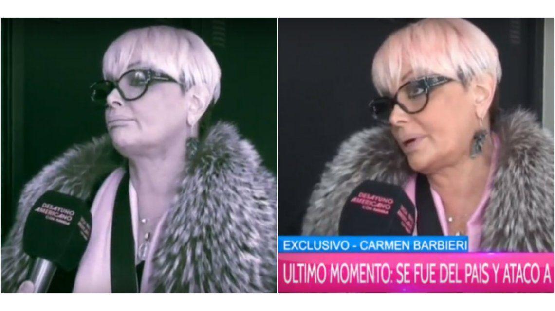 Tras su renuncia a Showmatch, Carmen Barbieri se fue del país