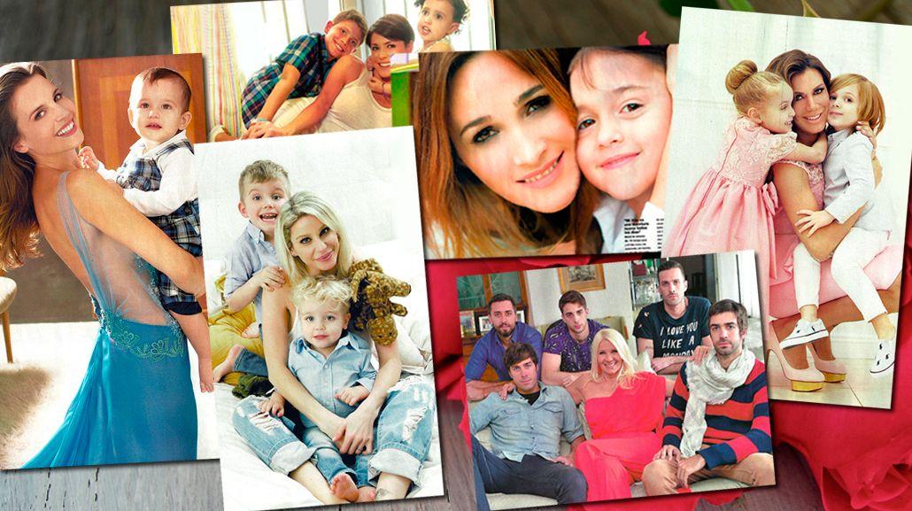 Las famosas palpitan el Día de la Madre y posaron junto a sus hijos en una producción: mirá las fotos