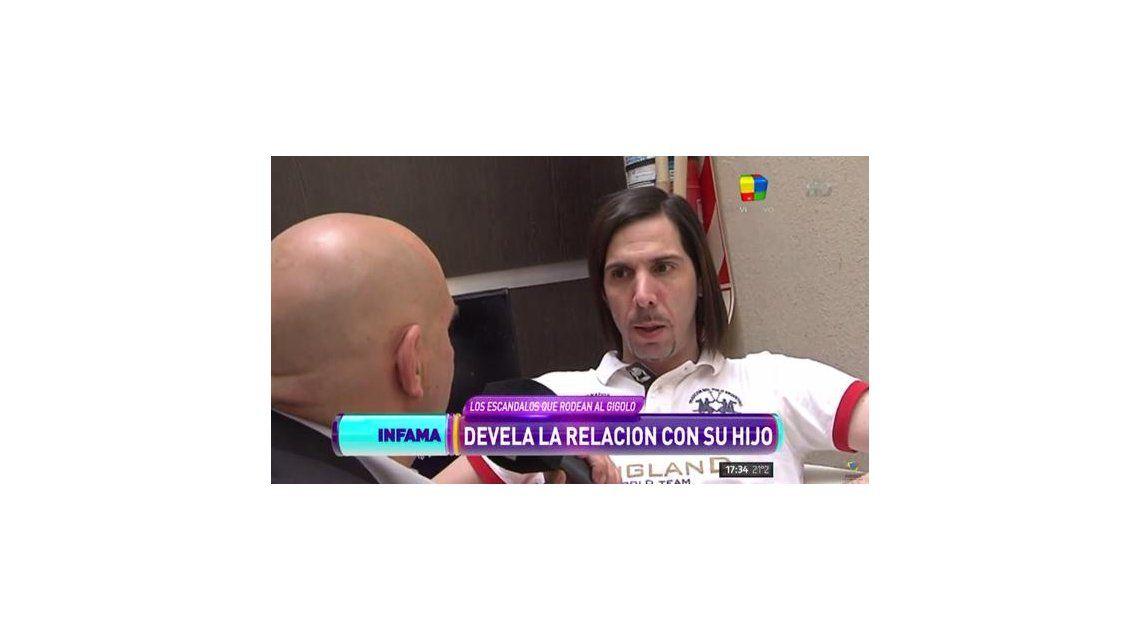 El gigoló, Javier Bazterrica, admitió que tiene un hijo no reconocido