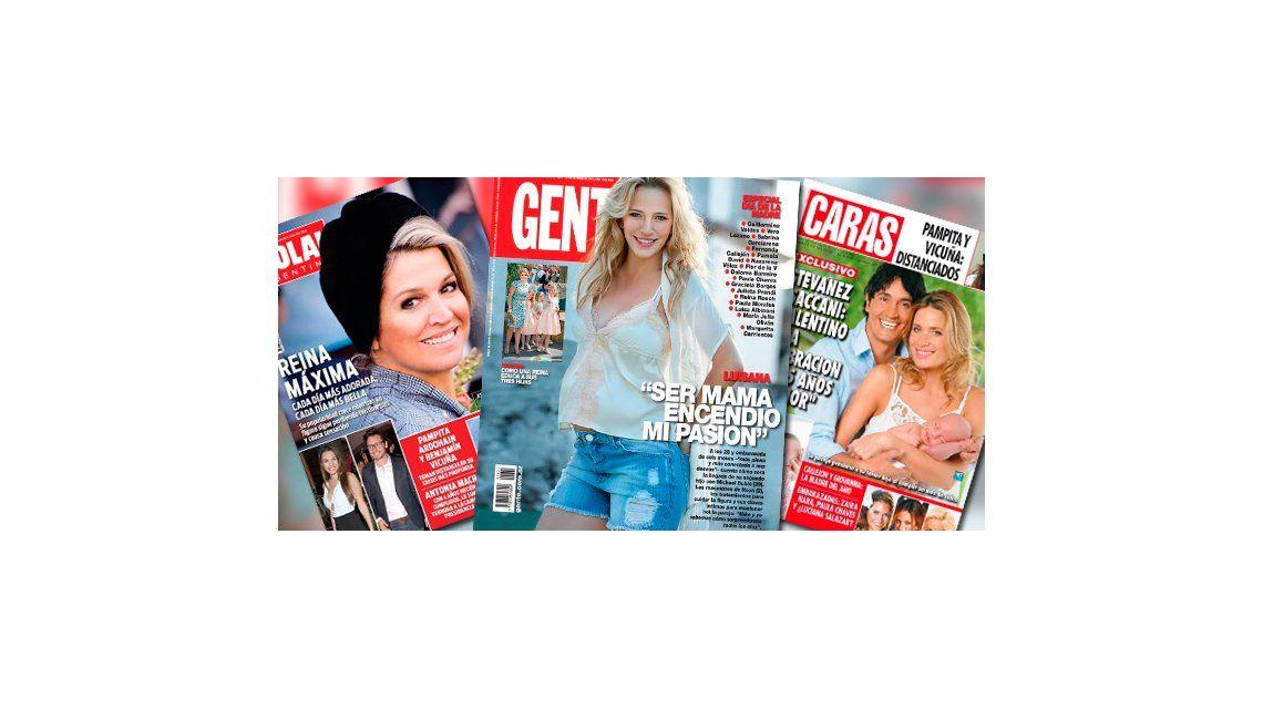 Tapas de revistas: especial Día de la Madre con María Fernanda Callejón, Paula Chaves, Ivana Saccani, la reina Máxima  y Luisana Lopilato