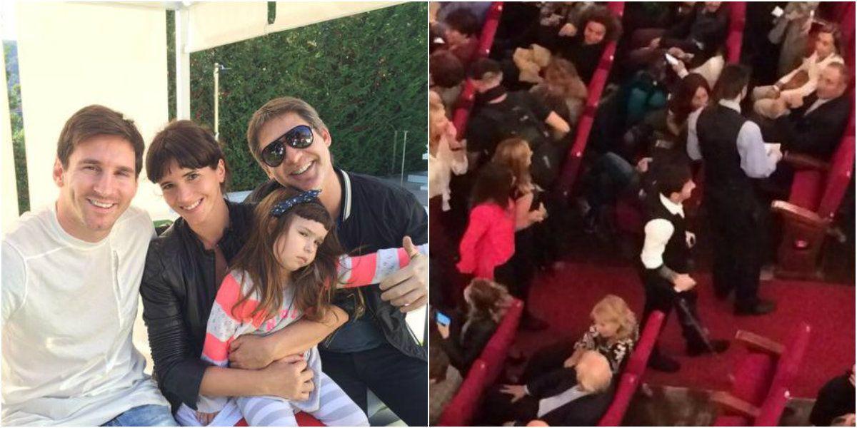 Mientras se recupera de su lesión, Lionel Messi disfruta del teatro y asados con Adrián Suar