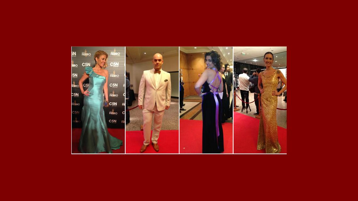 El look de los famosos en la alfombra roja de los Martín Fierro de Cable 2015