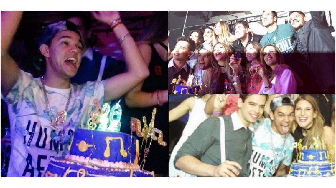 Las fotos del cumpleaños de Brian Lanzelotta: rodeado de hermanitos y besos con Marian Farjat