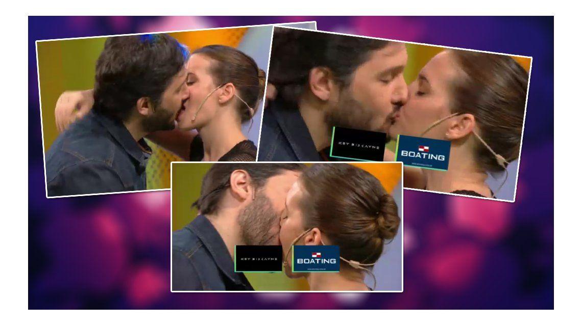 El beso apasionado (y largo) de Germán Paoloski y Sabrina Garciarena en vivo