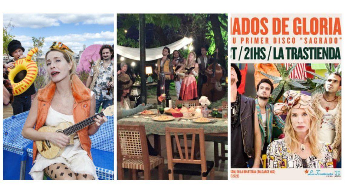 Gloria Carrá lanza nuevo disco: las fotos del backstage con sus divertidos looks