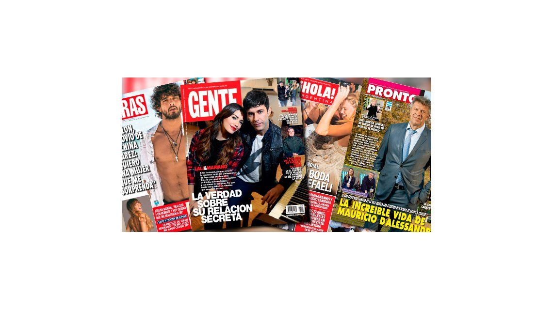 Tapas de revistas: la verdad sobre la relación de Lali Espósito y Mariano Martínez, confirmación del entorno y mimos en las giras