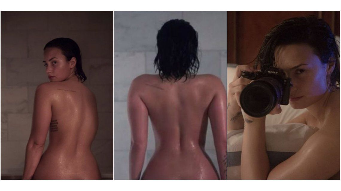 Demi Lovato, de chica Disney a posar desnuda para una revista