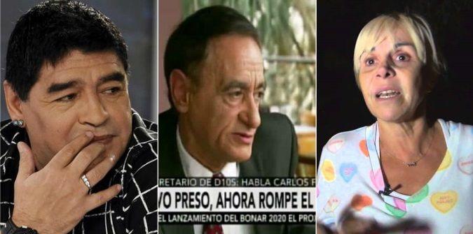 Habló el secretario de Maradona: Claudia es una chorra; hizo mucha plata con Diego