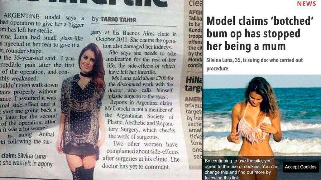 El escándalo de Aníbal Lotocki y Silvina Luna llegó a los diarios de Europa: lo escrachan en The Sun