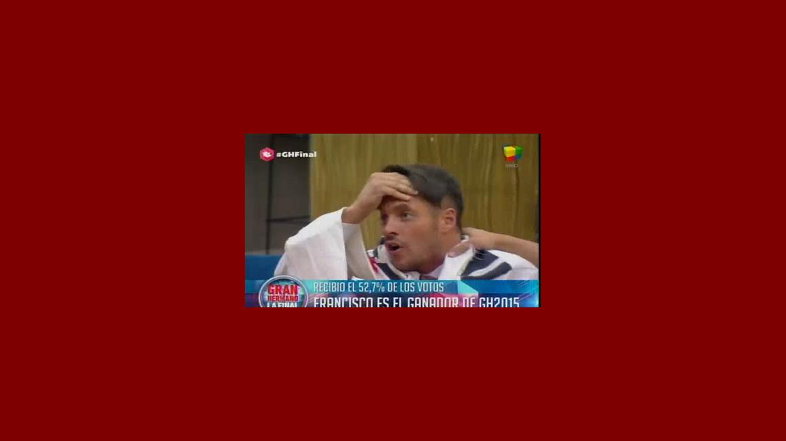 Francisco Delgado es el gran ganador de Gran Hermano: venció a Matías con el 52,7 por ciento de los votos