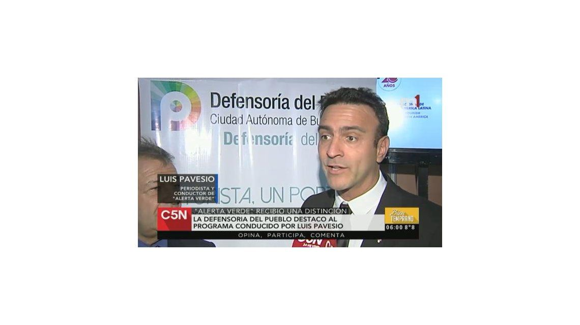 Luis Pavesio fue distinguido por su compromiso con el medio ambiente y el turismo accesible