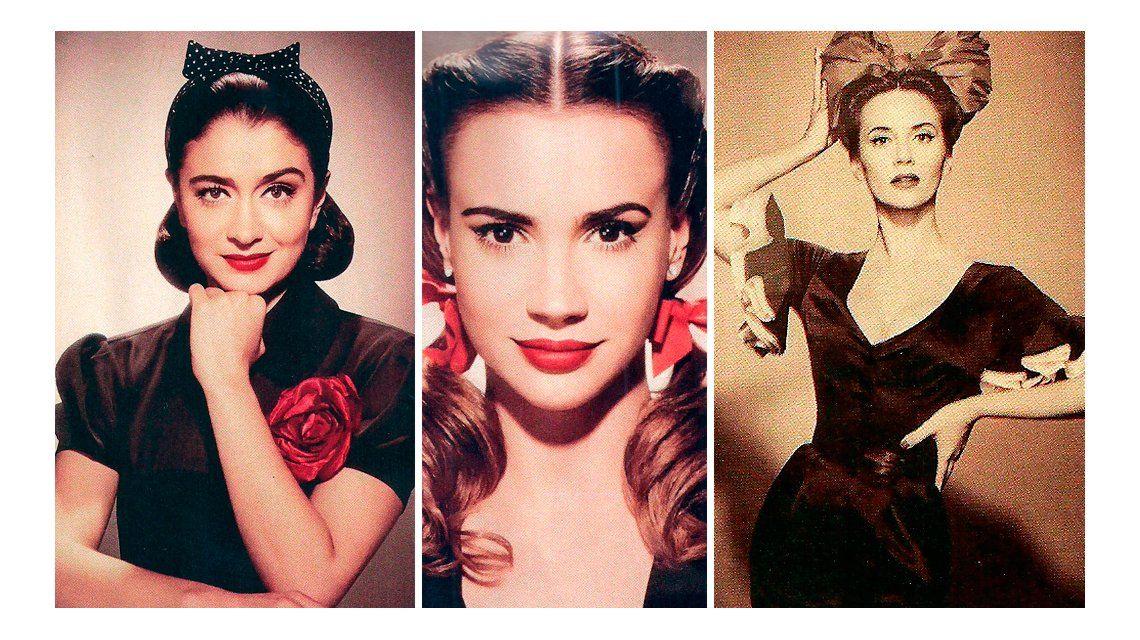 Mirá la producción de fotos retro de las famosas