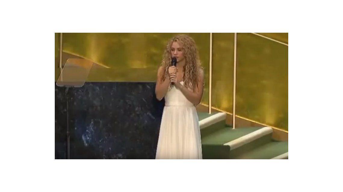 Shakira cantó Imagine en la Asamblea de la ONU