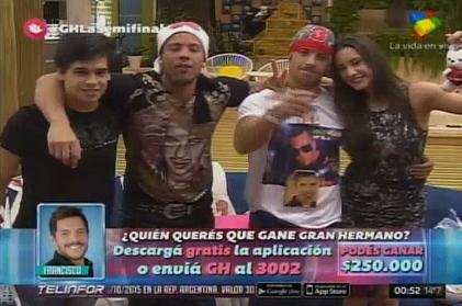 Francisco, Belén, Matías y Mariano, finalistas: Marian fue expulsada y Eloy, eliminado