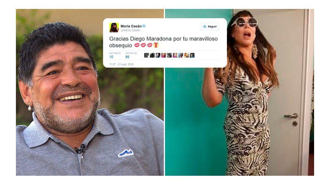 Qué le mandó Diego Maradona a Moria Casán desde Dubai: Siempre es muy generoso conmigo
