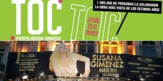 Susana Giménez y Toc Toc lideran la taquilla porteña