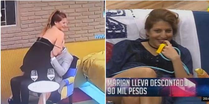 Marian Farjat se desnudó frente a Mariano y recibió otra sanción