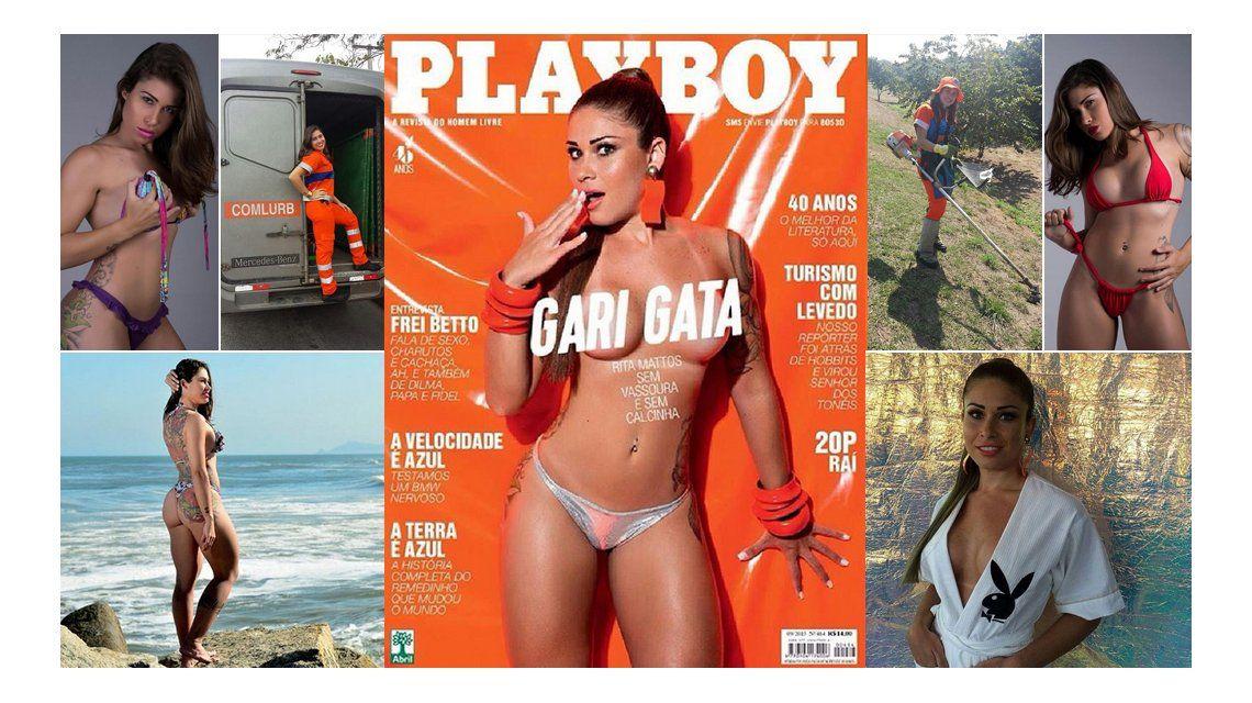 Rita Mattos, de barrendera a tapa de Playboy