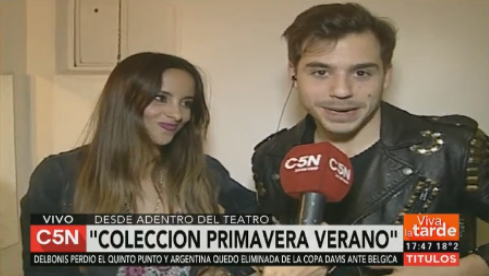 Fernando Dente y Lourdes Sánchez mostraron en vivo la intimidad de sus camarines