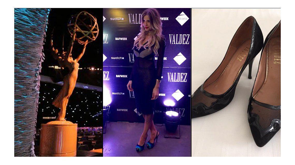 Laura Eason usó la marca de zapatos de Guillermina Valdes en los Premios Emmy 2015