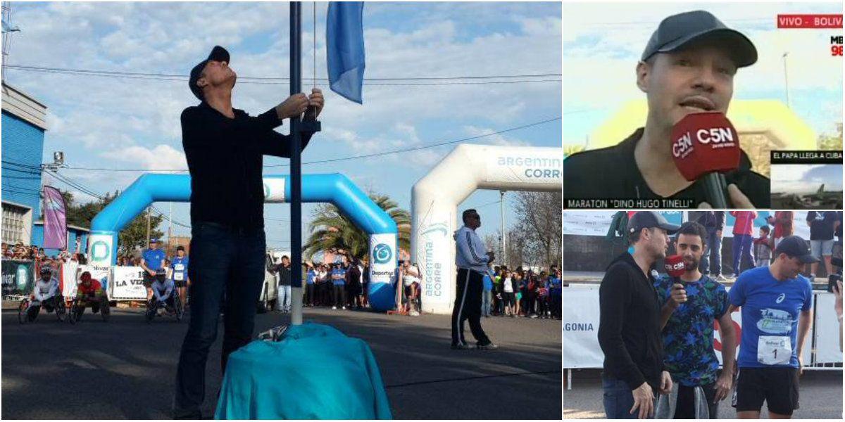 Marcelo Tinelli participó de la maratón de Bolívar, su ciudad natal