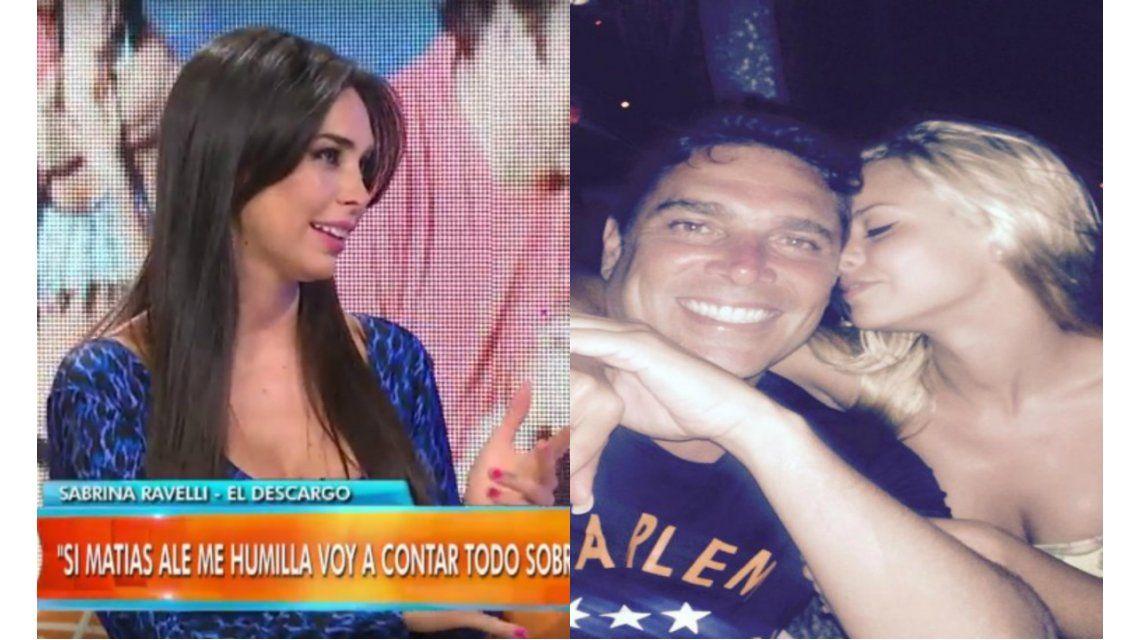 Sabrina Ravelli habló de reencuentros con Matías Alé y lo destrozó: Es un cagón de mie...