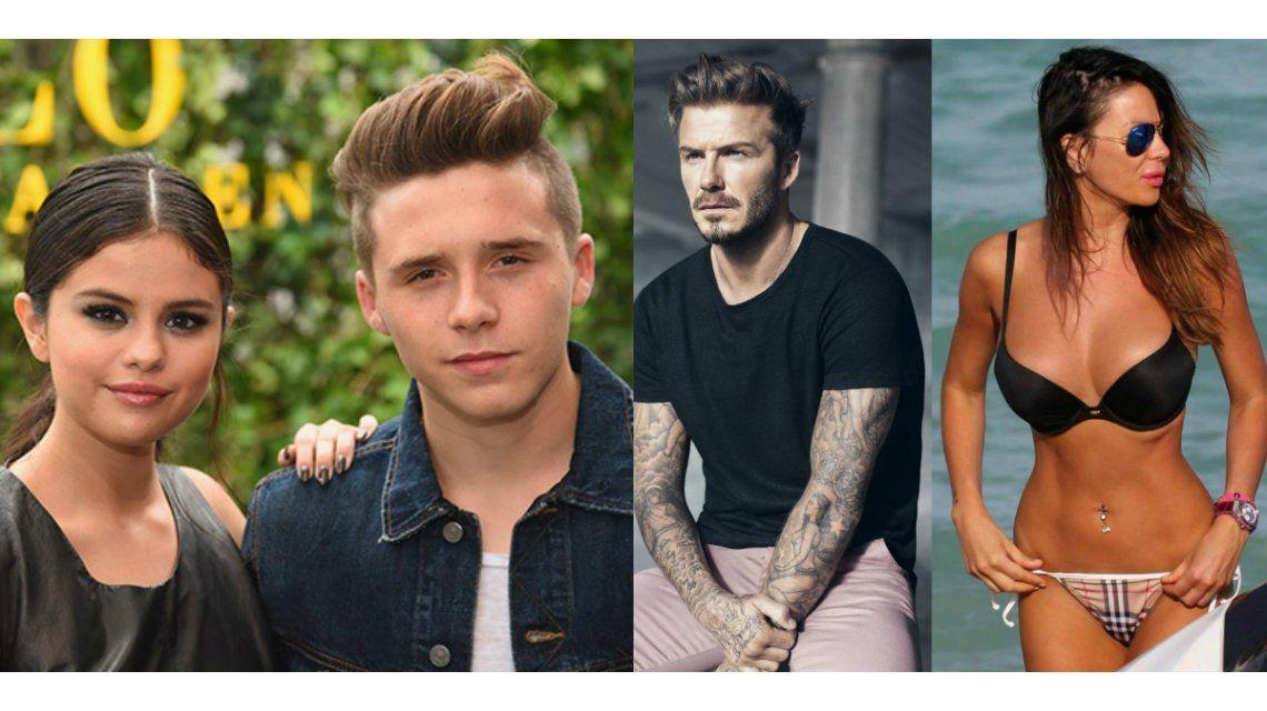 Mientras David Beckham quiso seducir a Karina Jelinek, su hijo engañó a su novia con Selena Gomez