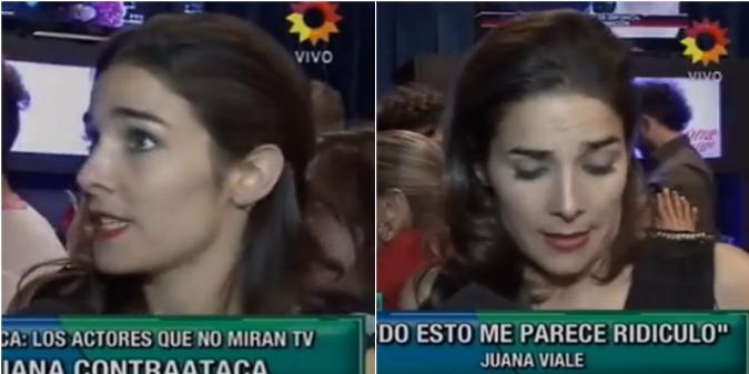 Con un verborrágico monólogo, Juana Viale se quejó de las críticas por no ver televisión